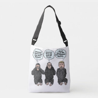Trump's Monkeys - Trump, Ryan, McConnell Crossbody Bag