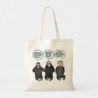 Trump's Monkeys - Trump, Ryan, McConnell Tote Bag