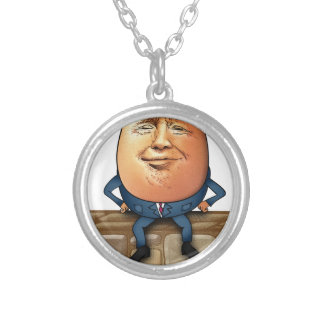 Trumpty Dumpty Silver Plated Necklace