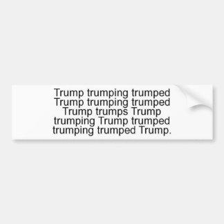 trumpx15-b-inv-cropped bumper sticker