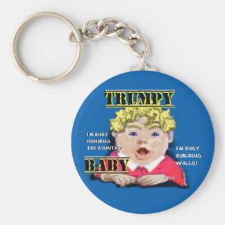 Trumpy Baby Button Keychain