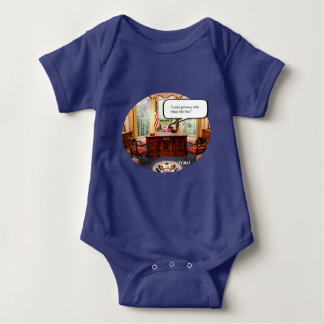 Trumpy Baby in Office - Baby Jersey Bodysuit