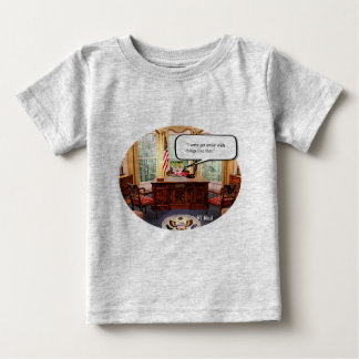 Trumpy Baby in Office - Fine Jersey T-Shirt