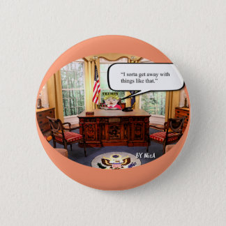 "Trumpy Baby - Oval Office - 2 1/4"" Round Button"
