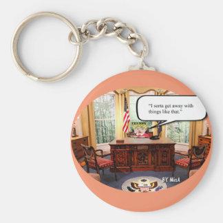 "Trumpy Baby - Oval Office  - Key Chain - 2 1/4"""