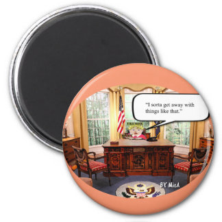 """Trumpy Baby - Oval Office  - Magnet - 2 1/4"""""""
