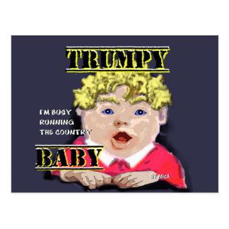 Trumpy Baby Postcard