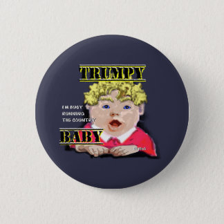 Trumpy Baby Round Button