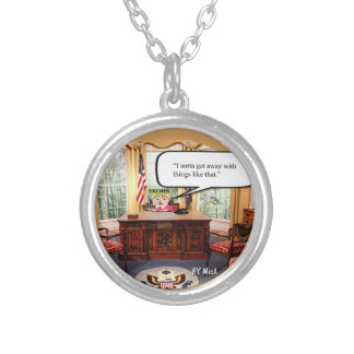 Trumpy Baby Say's... - Silver Plated Necklace