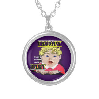 Trumpy Baby Silver Plated Necklace