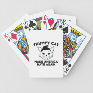 Trumpy Cat Bicycle Playing Cards
