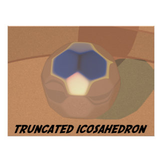 Truncated Icosahedron Poster