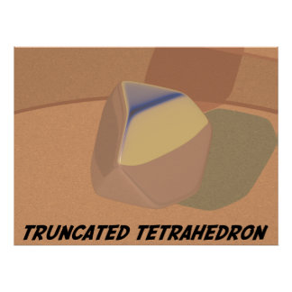 Truncated Tetrahedron Posters