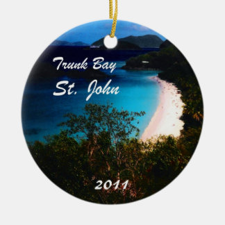 Trunk Bay, St. John  2011 Ceramic Ornament