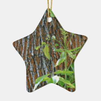 Trunk with Foliage Ceramic Ornament