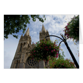 Truro Cathedral and flowers Card
