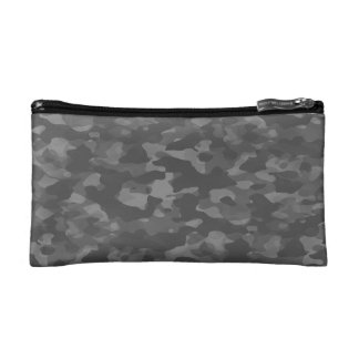 Trusses of Gray Camouflage make-up Cosmetic Bag