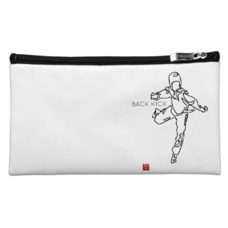 Trusses of make-up TAEKWONDO DWICHAGI back kick Makeup Bag