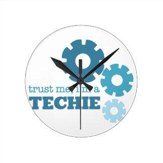 Trust A Techie Round Clock