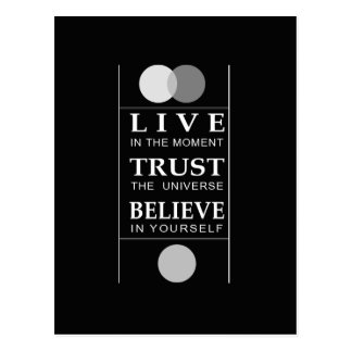 Trust Believe Inspirational Quote Postcard