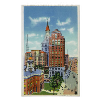 Trust Bldg and Travelers Tower View Poster