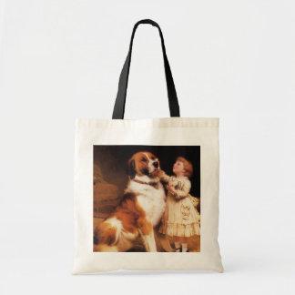 Trust by Charles Burton Barber, Saint Bernard dog