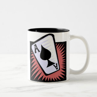 TRUST EVERYBODY, BUT CUT THE CARDS Two-Tone COFFEE MUG
