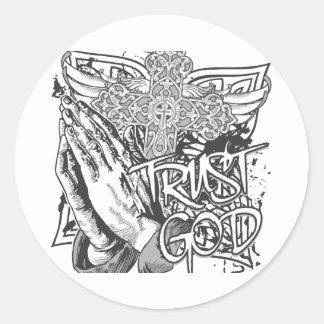 Trust God Classic Round Sticker