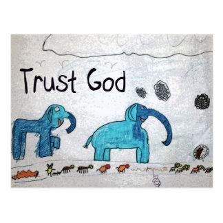 Trust God Gifts & Greetings Postcard