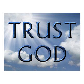 TRUST GOD POSTCARD