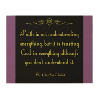 Trust God Wood Canvases