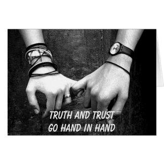 """Trust"" Greeting card"