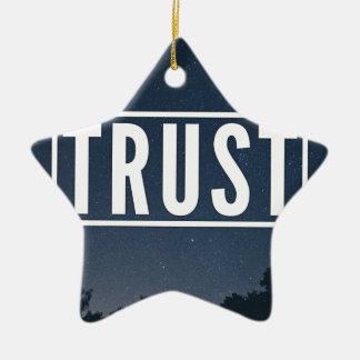 Trust hipster typography ceramic ornament