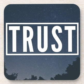 Trust hipster typography coaster