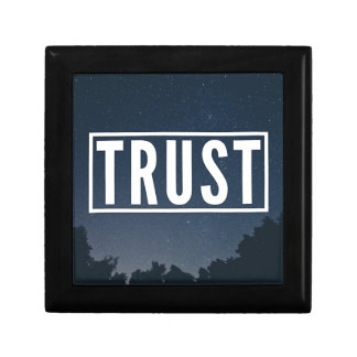 Trust hipster typography gift box