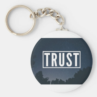 Trust hipster typography keychain