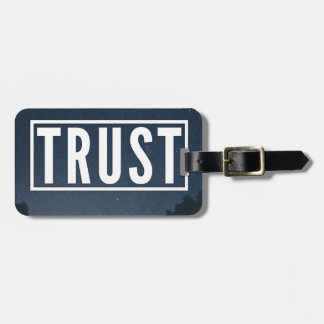Trust hipster typography luggage tag