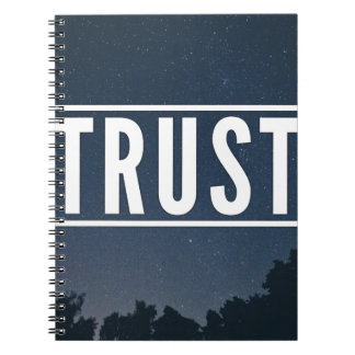 Trust hipster typography notebook