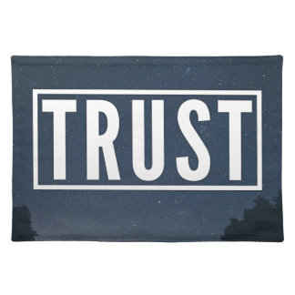 Trust hipster typography placemat