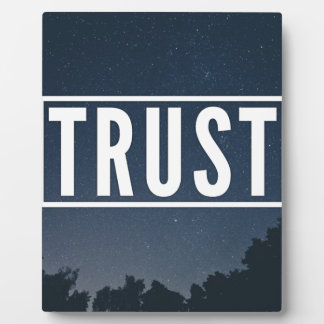 Trust hipster typography plaque