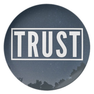 Trust hipster typography plate