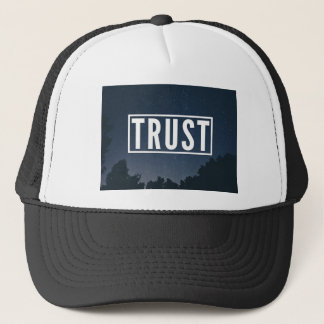 Trust hipster typography trucker hat