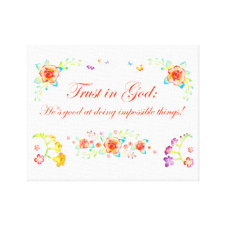 Trust in God Canvas Print