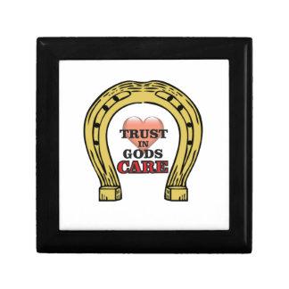 trust in Gods care heart Gift Box