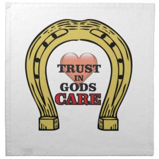 trust in Gods care heart Napkin