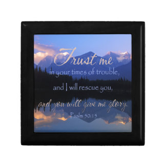 Trust in me in times of Trouble Psalms 50:15 Gift Box
