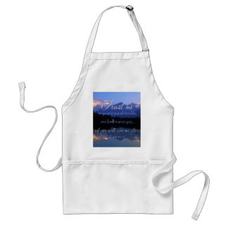 Trust in me in times of Trouble Psalms 50:15 Standard Apron