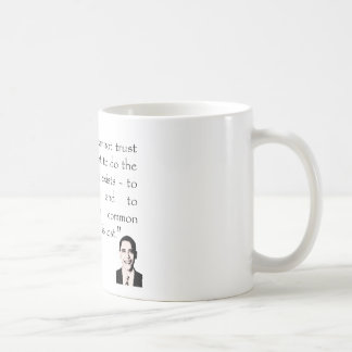 Trust in the government, Barack Obama Coffee Mug