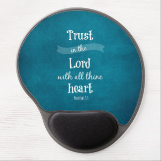 Trust in the Lord Bible Verse Gel Mouse Pad