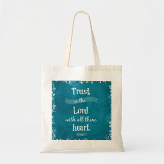 Trust in the Lord Bible Verse Tote Bag